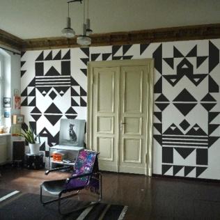 black_white_geometrical_navajo_wall
