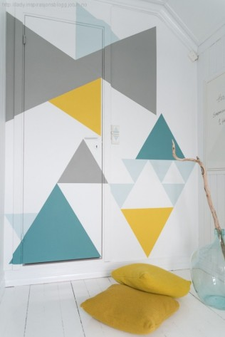 geometric wall painted