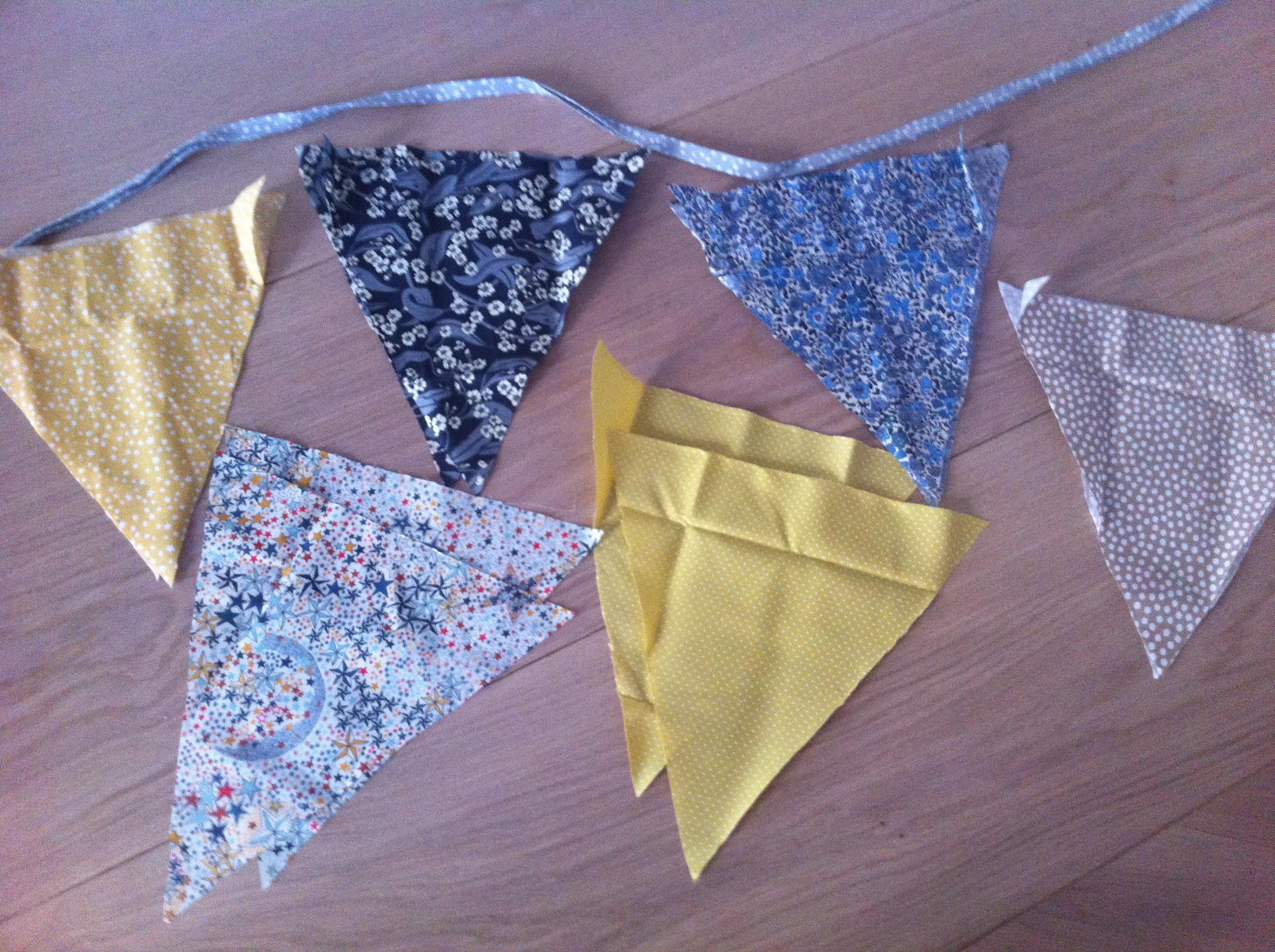 Fanion Tissu : Tuto guirlande fanion tissu ri jornalagora