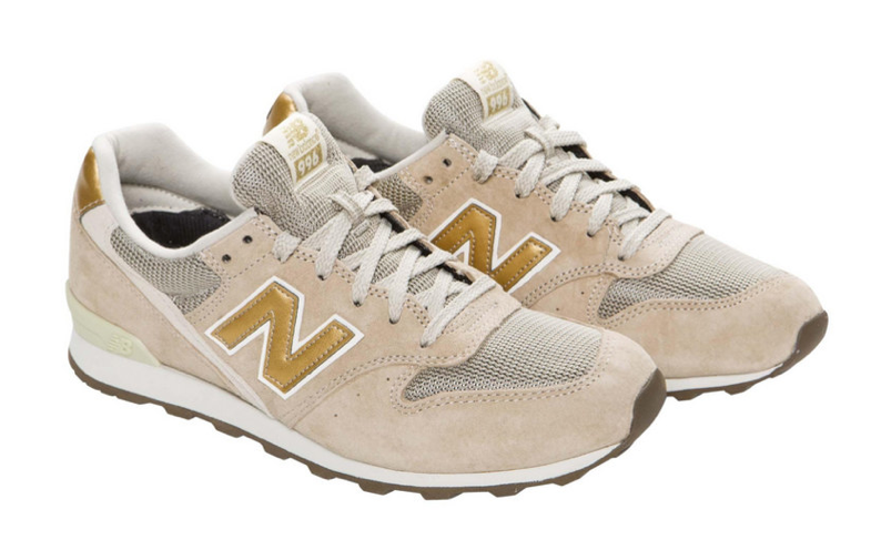 new balance taupe et or femme